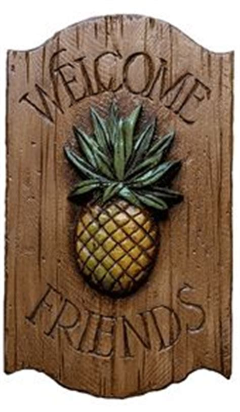 Outdoor Pineapple Decor by Pineapple Decor Welcome Sign Misc
