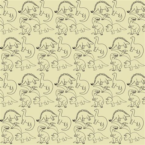 Outline Textiles by Dinosaur Outline Fabric Chavamade Spoonflower