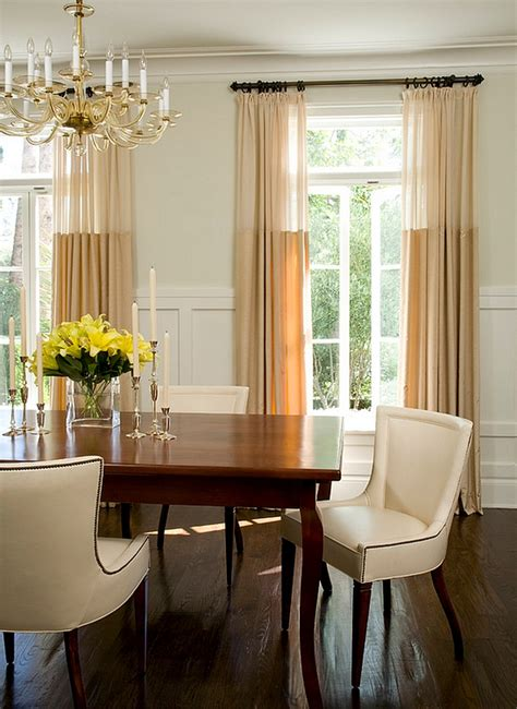Dining Room Drapery | sheer curtains ideas pictures design inspiration