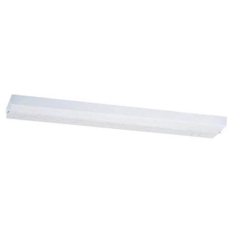 sea gull lighting 1 light white fluorescent cabinet