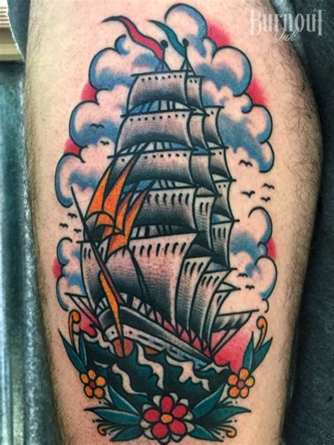 tattoo pain tramadol burnout ink clipper ship tattoo by christian otto