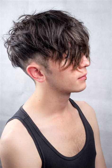 how to ask for an undercut medium hairstyle men messy undercut men s hair textured natural black