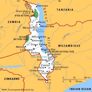Malawi Map And Malawi Satellite Images