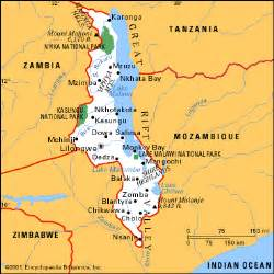 Malawi Africa Map by Malawi Home