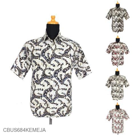 Kemeja Pendek Motif Putih baju batik sarimbit kemeja pekalongan motif sogan putih