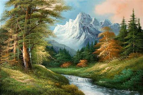 Classic Mountain Landscape Mountain Landscape Paintings