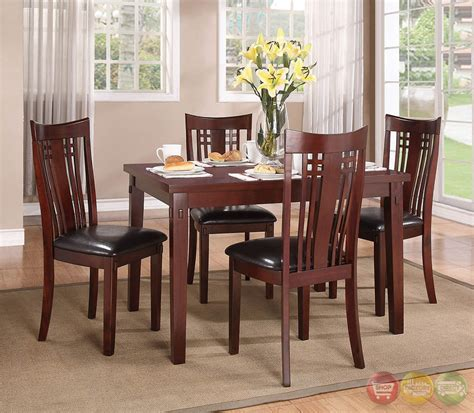 Casual Dining Sets Leana Traditional Medium Wood Casual Dining Set Rpcmo50