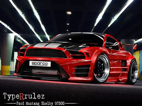 mustang shelby modified custom red and black rims custom red and black ford