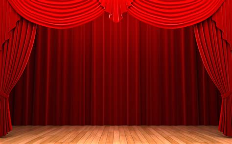 red drape red curtains stage