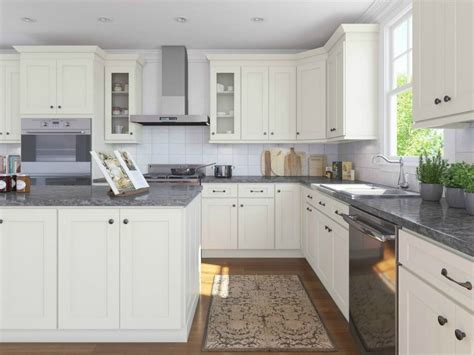 white shaker style cabinetry with best free home 5 ways to add rustic farmhouse style to your kitchen the