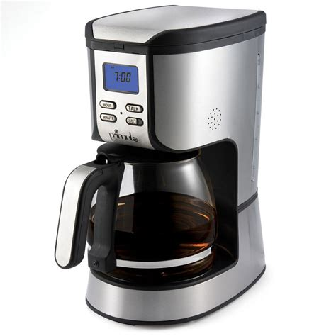 Coffee Maker Machine primula speak n brew talking coffee maker the green