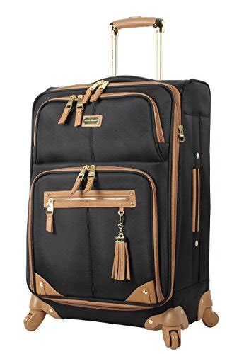 free shipping steve madden luggage 24 quot expandable softside suitcase with spinner wheels 24in