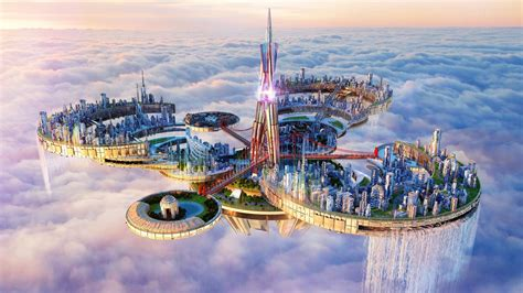A Floating City floating city in the sky wallpaper wallpaper studio 10
