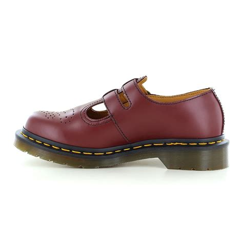 dr martens 8065 womens leather shoes cherry