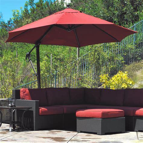 Tremendous Black Octagonal Canopy Cantilever Umbrella