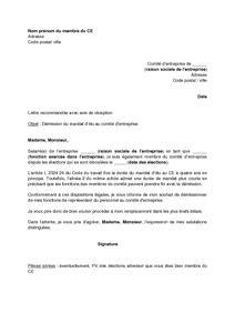 lettre de demission d une association lettre de