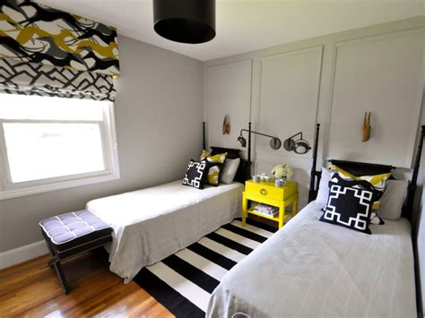 black white and yellow bedroom 24 accent wall designs decor ideas design trends