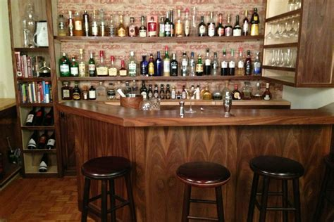 at home bar home bar built by a professional bartender takes diying to a new level photo huffpost