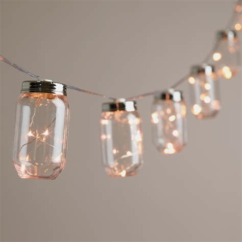 battery string light jar firefly 10 bulb battery operated string lights