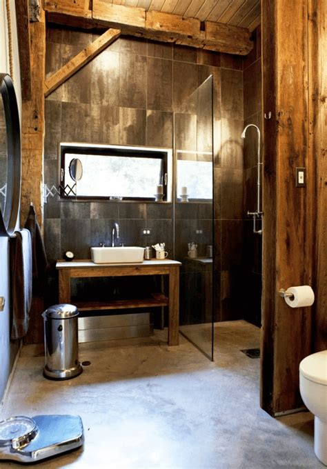 rustic style bathrooms rustic industrial bathrooms interior design design news
