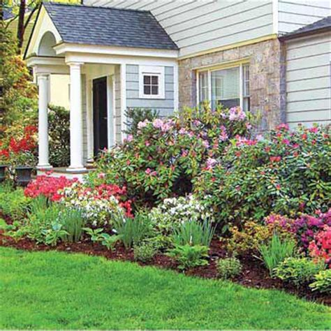 foundation plants for front yard tallest in back shortest in front best foundation