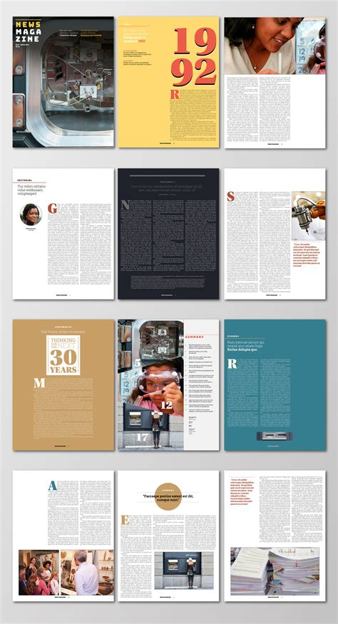 adobe indesign magazine template free free indesign magazine templates design magazine