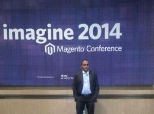 magento imagine day 1 brainvire at the magento imagine ecommerce conference