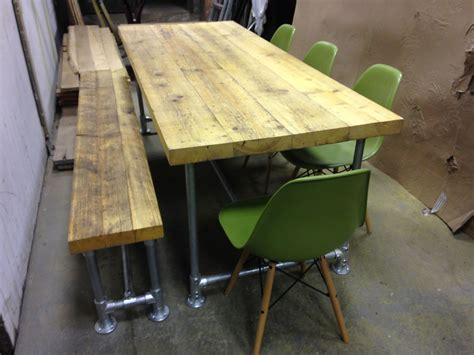 Dining Table Bench And Chairs by Wings Furniture And Interiors Scaffold Board Table And Bench