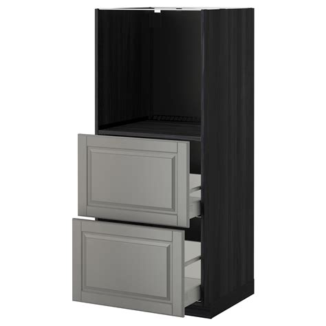 metod maximera high cabinet w 2 drawers for oven black