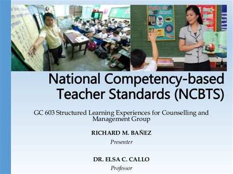 Competency Based Mba by National Competency Based Standards Ncbts