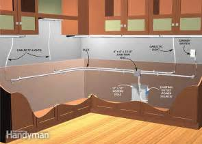 kitchen cabinets lighting how to install cabinet lighting in your kitchen the family handyman