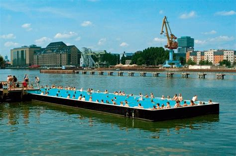 dream boat urban floating pool pool barge pinterest pools and berlin