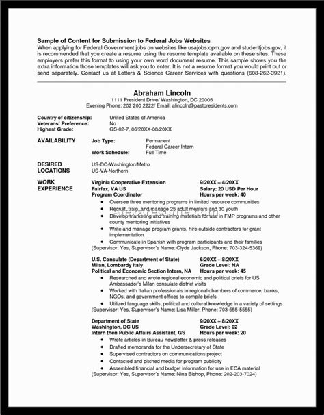 government job resume examples view sample example of job