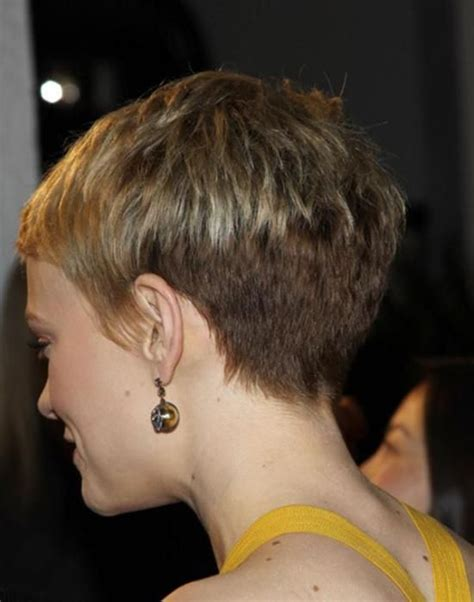 short pixie hair style with wedge in back short hairstyles for older women back view hairstyles