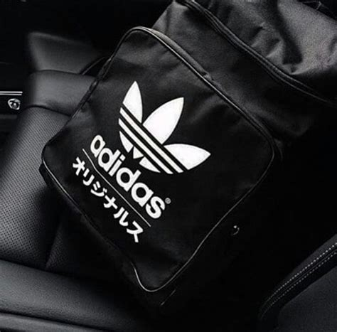 Captain Japan Back Pack adidas originals typo classic backpack black white trefoil