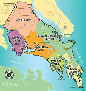st marys map st s county md tourism