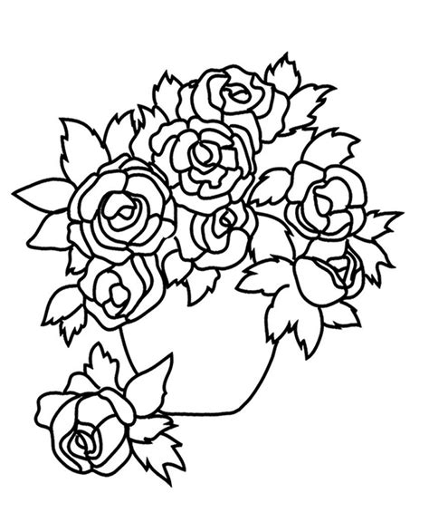 flower coloring sheet flower coloring pages