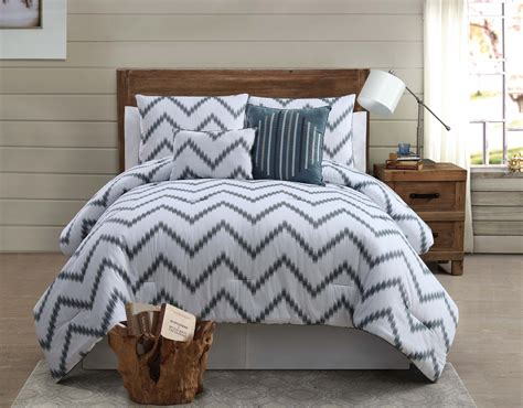 100 cotton comforter king zigfield 5 piece 100 cotton king comforter set grey