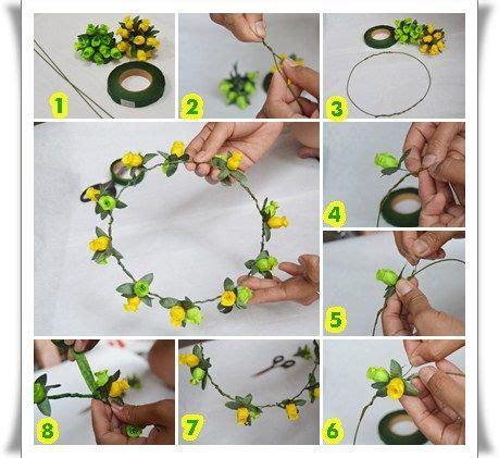 cara membuat floral abstrak cara membuat flower crown cara membuat flower crown