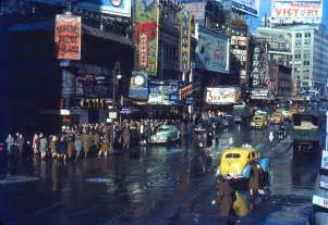 in color ny kodachrome slides of new york from the 1940s and 1960s