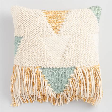 throw pillow boho fringe throw pillow world market