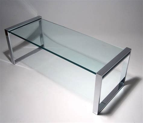 charles hollis jones quot box quot coffee table in nickel and