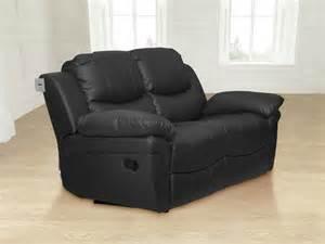 valencia leather recliner sofa surrey valencia 3 2 leather sofa recliner suite black ebay