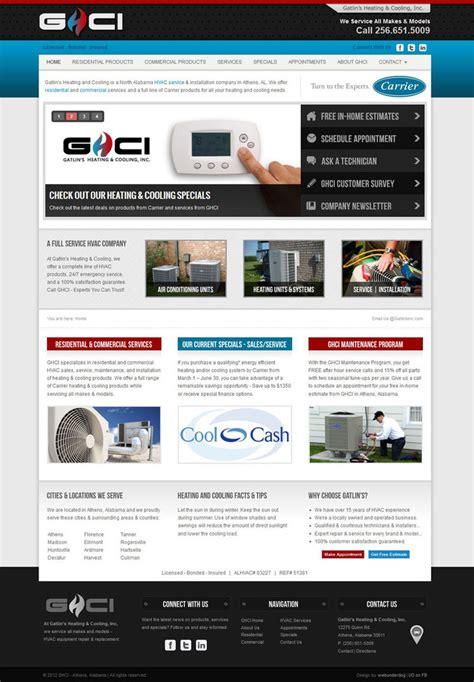 Custom Joomla Template Hvac Heating And Cooling By Webunderdog On Deviantart Heating And Cooling Website Template
