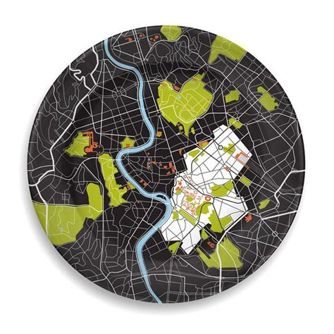 City Plates By Notneutral by Notneutral City On A Plate Rome Tabletop Glassware