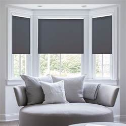 Window Treatment Ideas For Bow Windows deluxe room darkening fabric roller shades blindster com