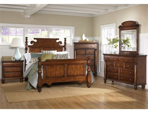 wooden bedroom in american colonial style interior