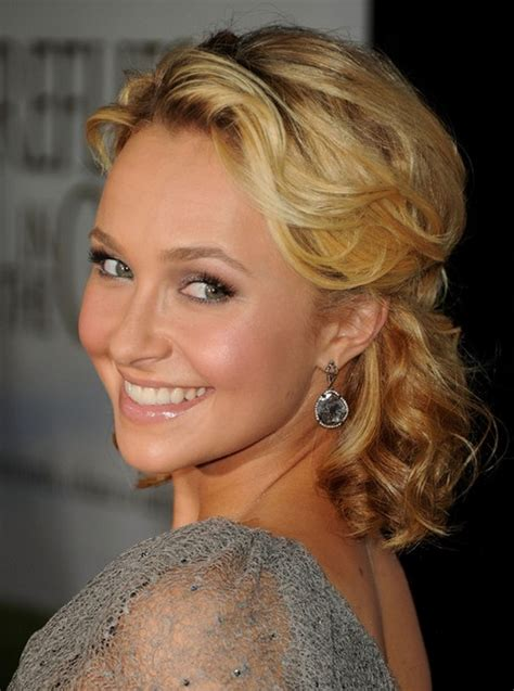 curls half up half down hairstyles medium length hair hayden panettiere medium length hair half up half down