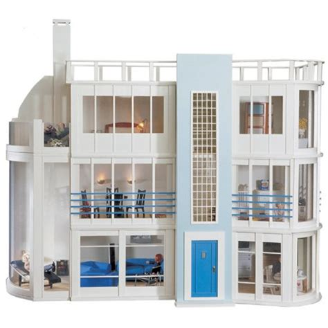 art deco dolls house malibu beach house kit modern art deco style dolls house