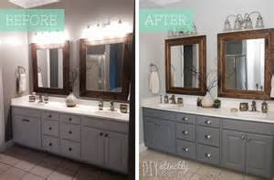 Painting Bathroom Cabinets Color Ideas Painted Bathroom Cabinets Diystinctly Made